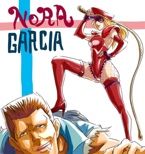 Nora and Garcia by kamiomutsu