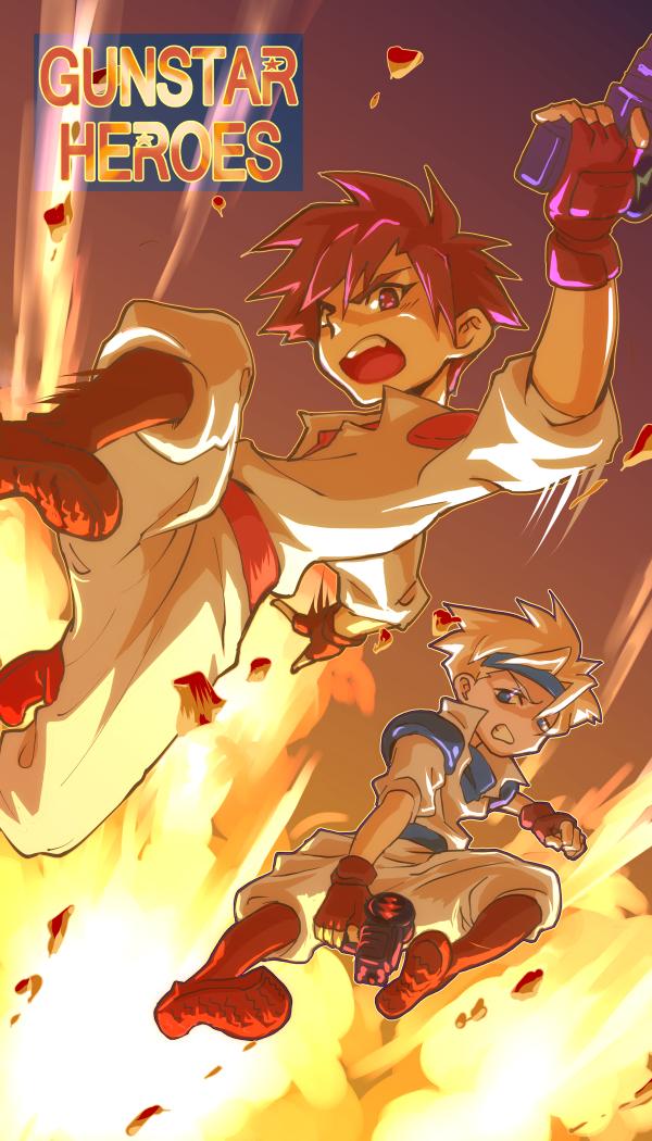 Gunstar Heroes by kamiomutsu
