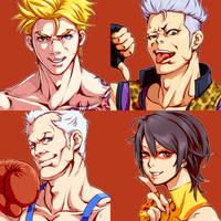 Jiggeh's Fighting Game Characters WIP1 by kamiomutsu