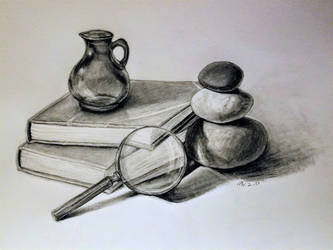Still Life with a Magnifying Glass by BubblyBlackbird