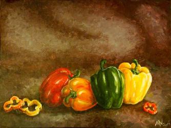Pepper Still Life by BubblyBlackbird