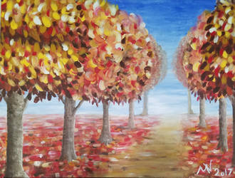 Autumn Path by BubblyBlackbird