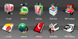 Mobile GUI icons design by lytous