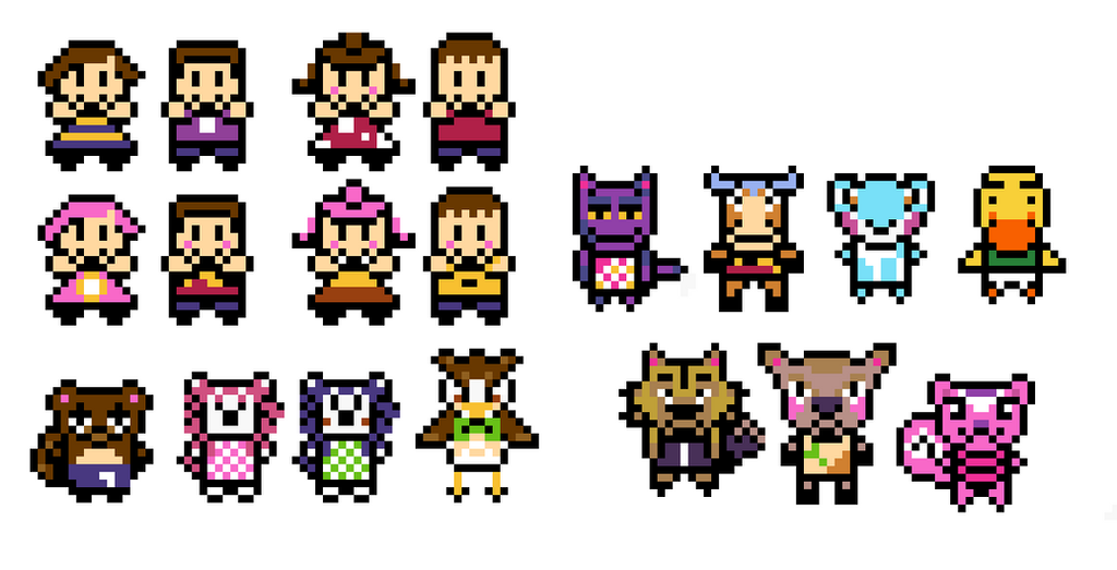 Animal Crossing gbc pixel characters by extrasupervery on ... - Pixel Art Animal Crossing