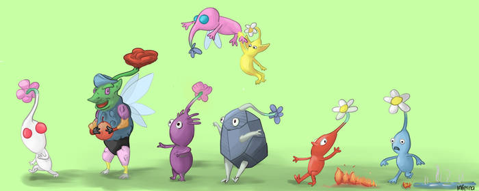 Pikmin and Rainbow Pikmin - For Nintendolover105