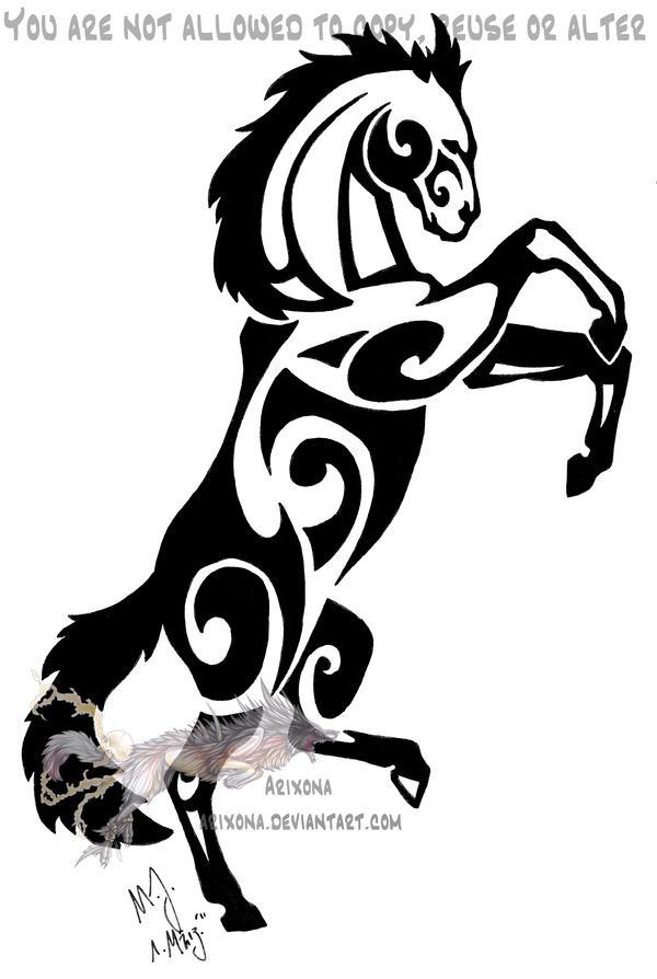 rearing tribal horse by arixona on deviantart. Black Bedroom Furniture Sets. Home Design Ideas