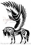Winged tribal horse