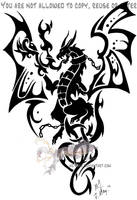 Dragon tribal by Arixona