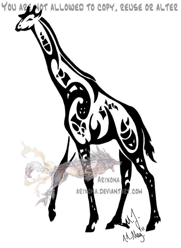 Tribal giraffe tattoo - photo#6