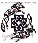 African wilddog tattoo