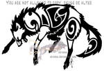 Angry tribal wolf