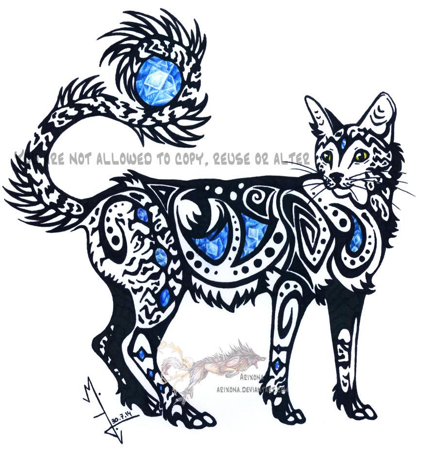 Blue sapphire cat by Arixona