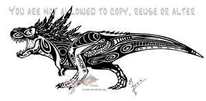 Feathered Tribal T-Rex