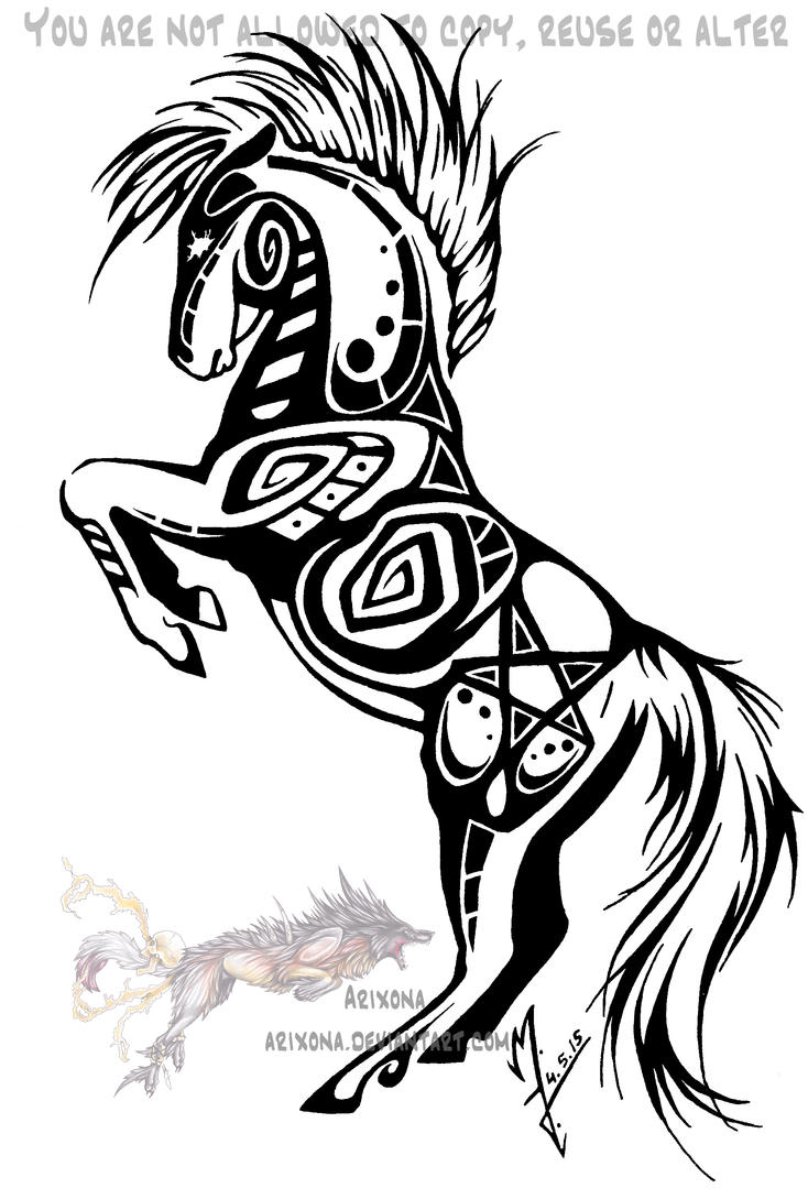rearing tribal horse by arixona on deviantart. Black Bedroom Furniture Sets. Home Design Ideas