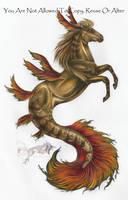 Golden Hippocampus by Arixona