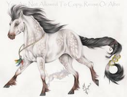 Feather horse 2 by Arixona