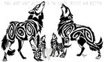 Four Wolves Tribal by Arixona