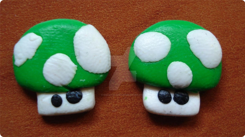 EARRINGS mario mushroom by cuca-factory
