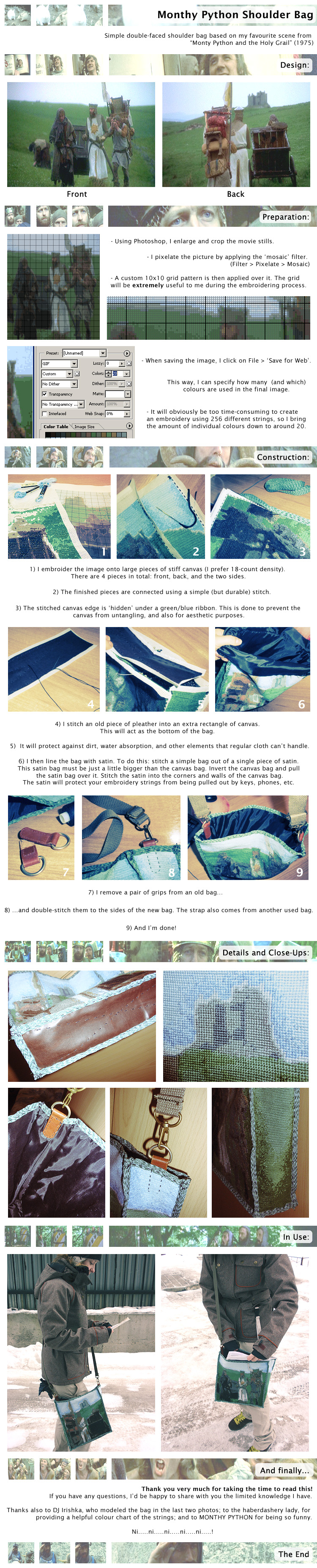 Monty Python Bag Details by witegots