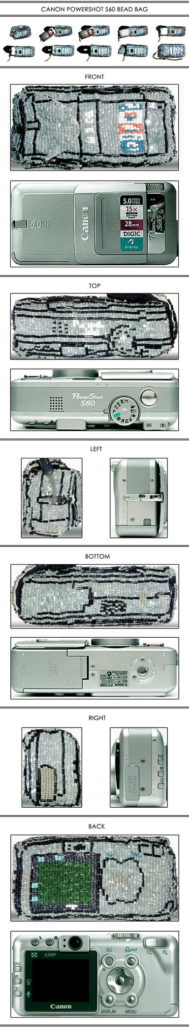 Canon Powershot beady bag by witegots