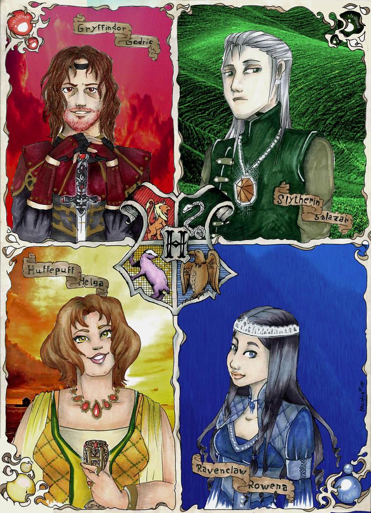 founders hogwarts by tetrapercu