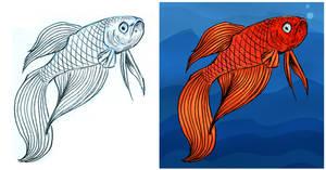 Beta Fish by GlowingMember