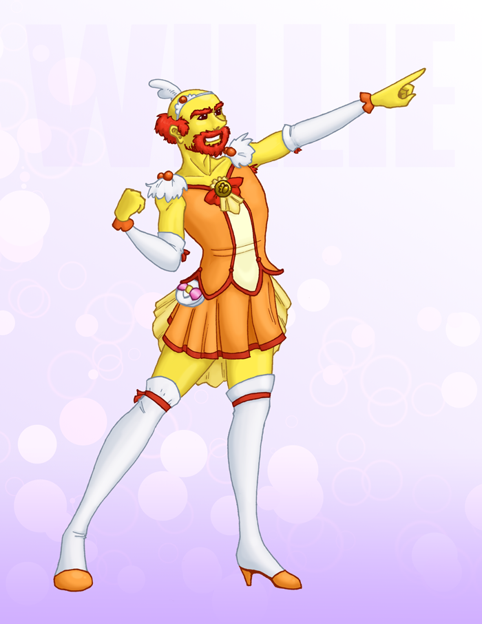 Magical Girl Groundskeeper Willie by GlowingMember