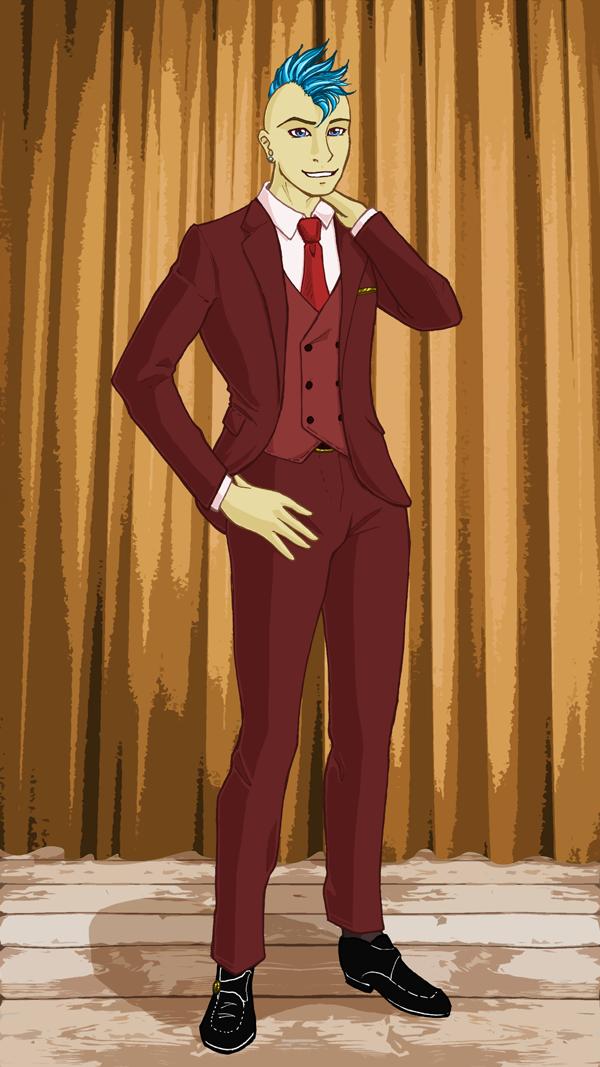 Redraw: Phil in Fancy Dress, colour by GlowingMember