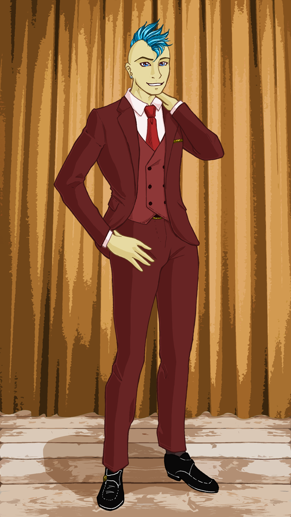 Redraw: Phil in Fancy Dress, colour by GlowingMember