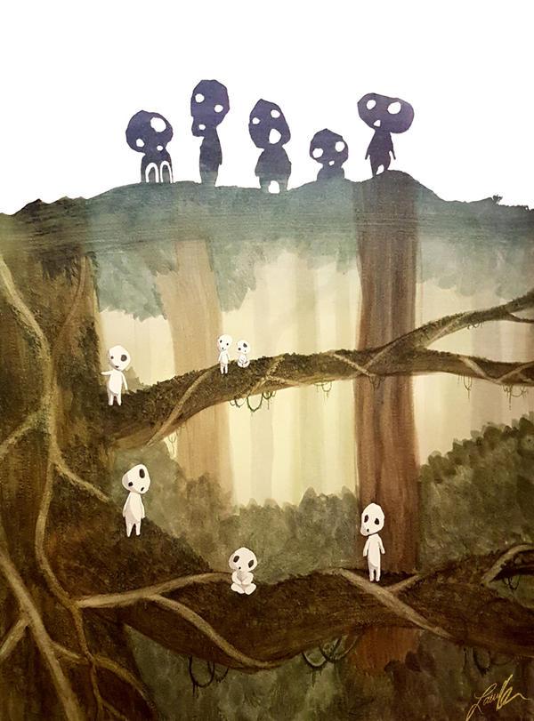 Tree Spirits Watercolour