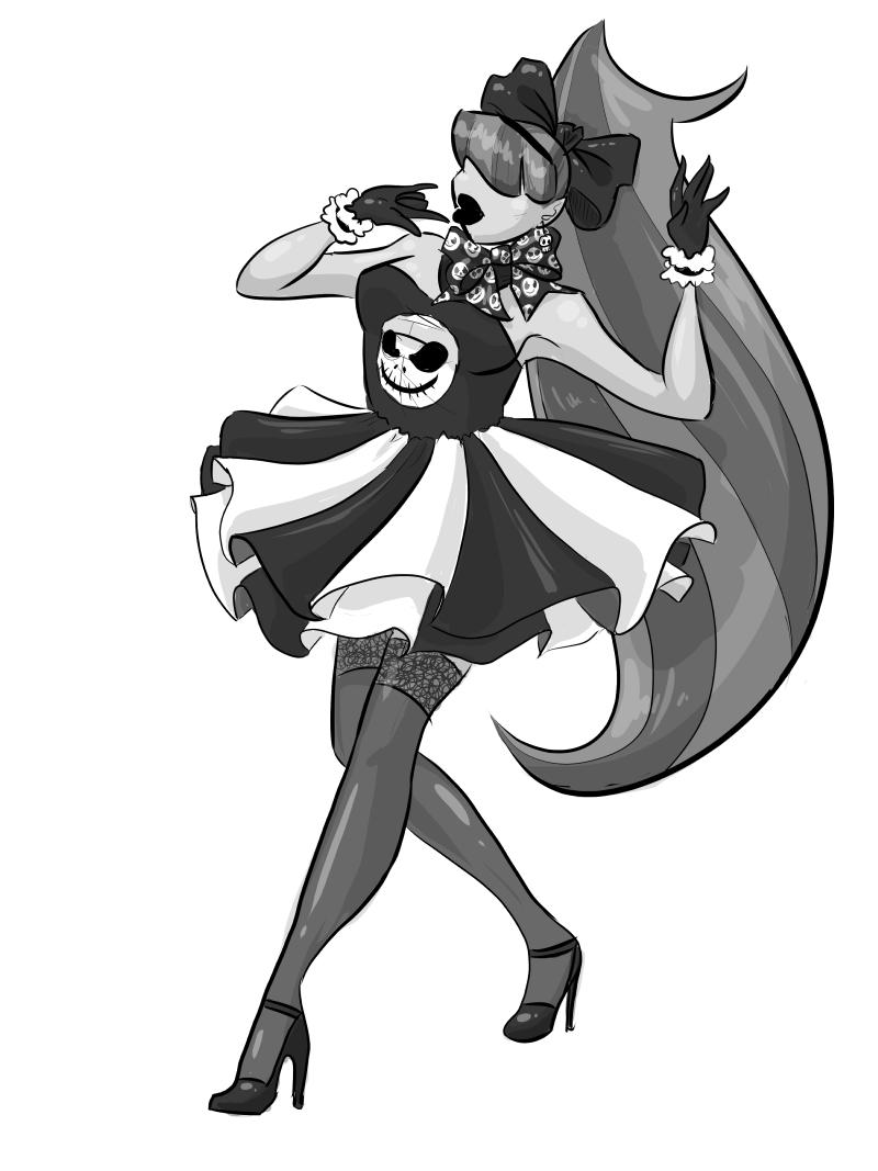 Magical Girl: Skull Dress by GlowingMember