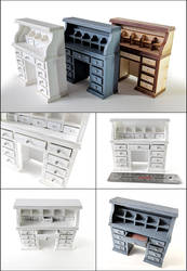 Miniatures: Rolltop Dresser by GlowingMember