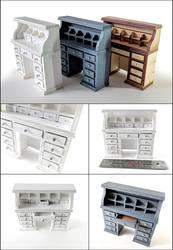 Miniatures: Rolltop Dresser by GlowingMember