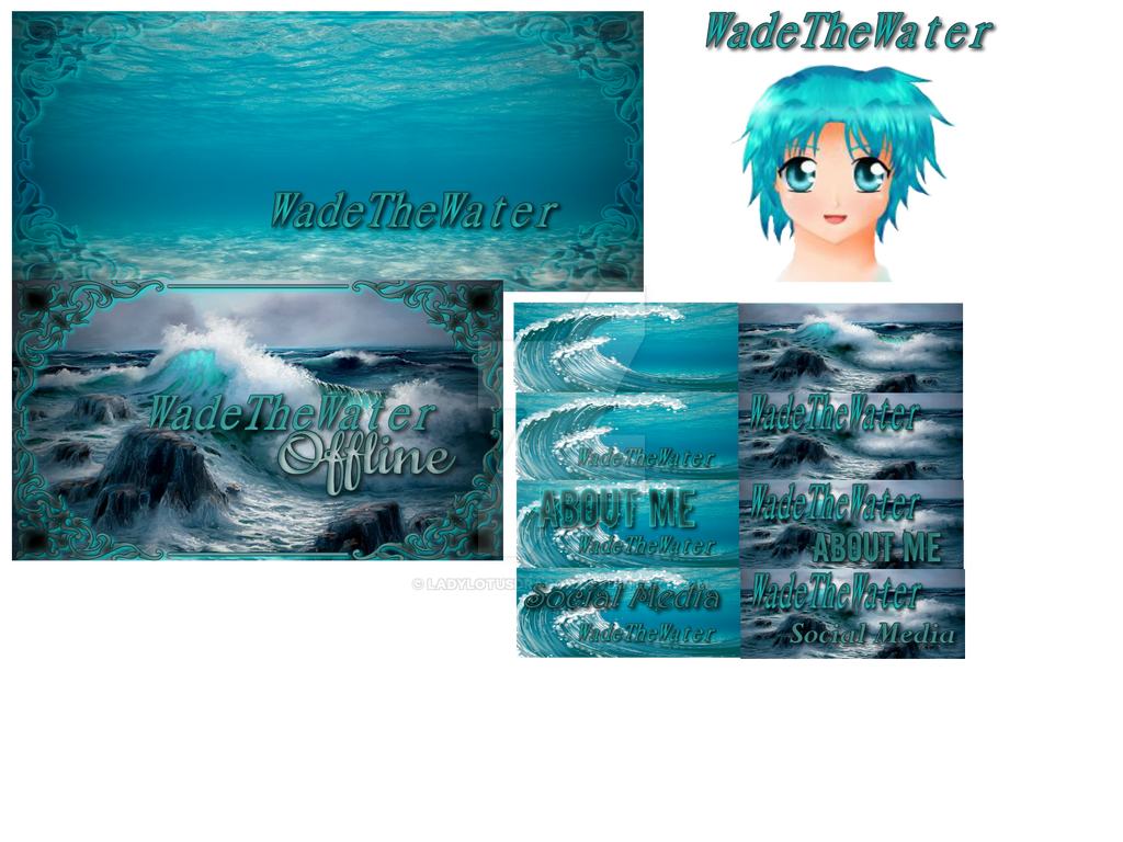 WadeTheWater-portfoliopage by LadyLotusDragon