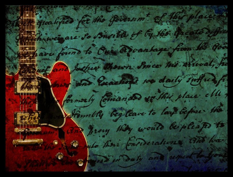 Vintage guitar wallpaper