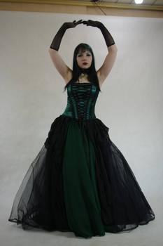 STOCK - Gothic vampire in green