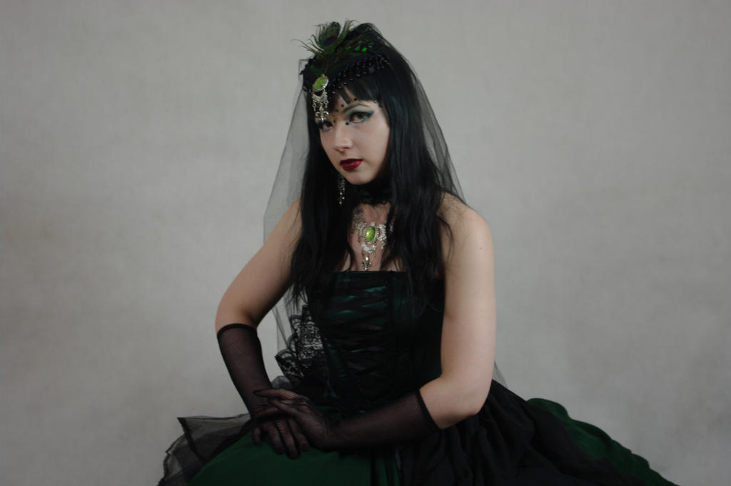 STOCK - Gothic vampire in green by Apsara-Stock