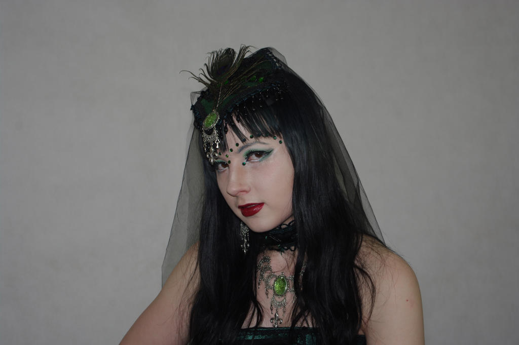 STOCK - Gothic vampire in green by Apsara-Stock