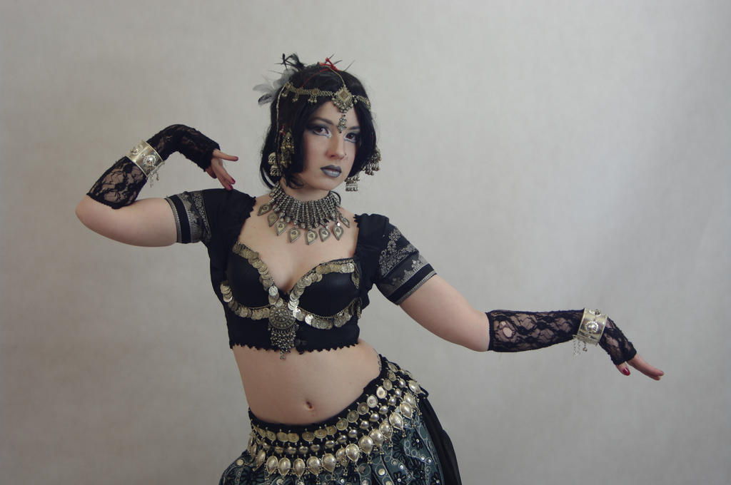 STOCK - Indian / Gothic temple dancer by Apsara-Stock
