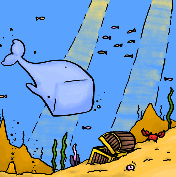 Whale and water by Hempuli