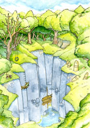 Deep pond by Hempuli