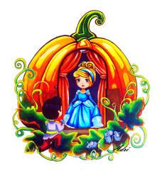 Cinderella in a Pumpkin by adriofcolours