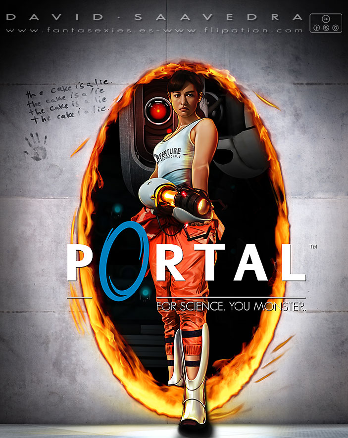portal  for science  you monster  by flipation on deviantart