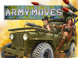 Army Moves. Close up view with logo