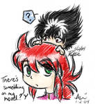 Kurama and Chibi Hiei - YYH