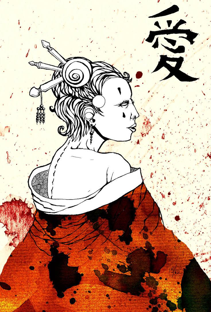 Geisha WiP by LordKrang