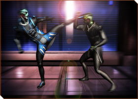 Drell Training 03 by RenKrios