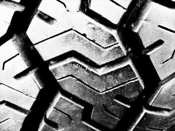 Tire Texture Halftone