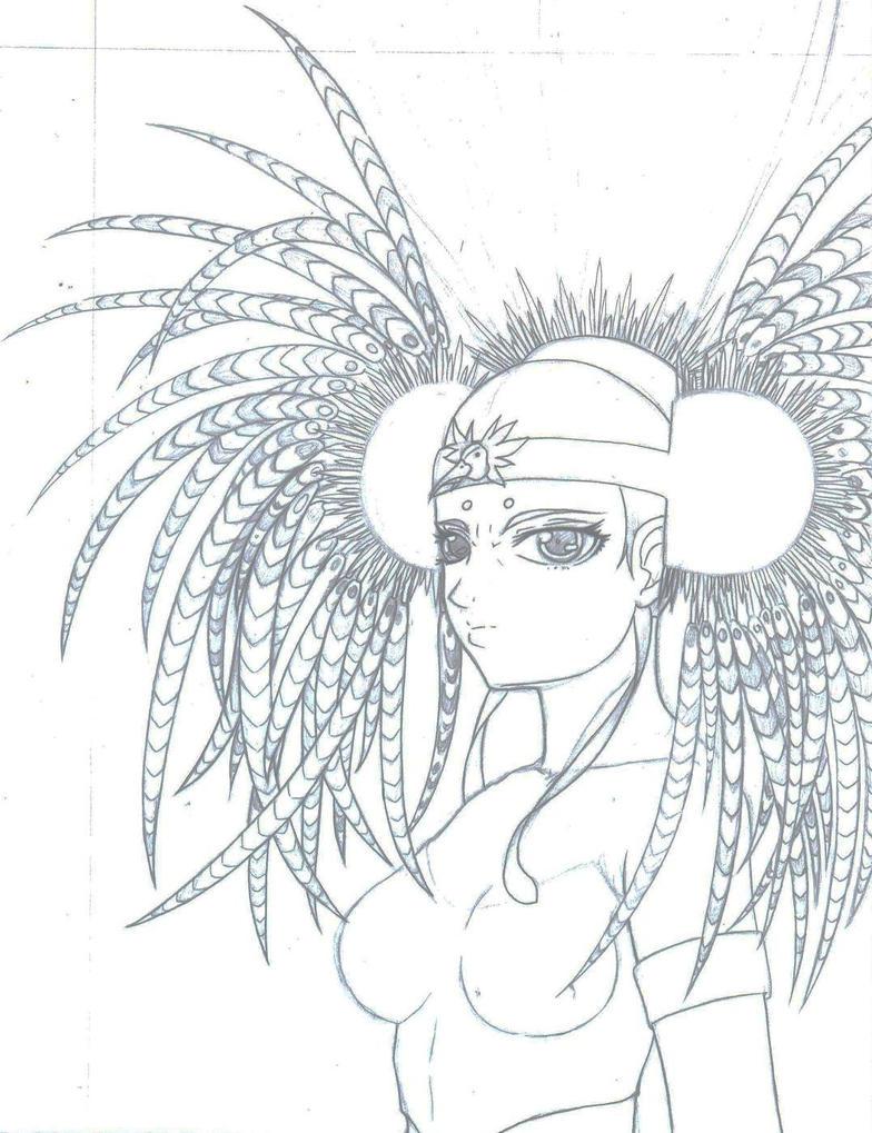 Aztec Warrior Anime by Yjayr