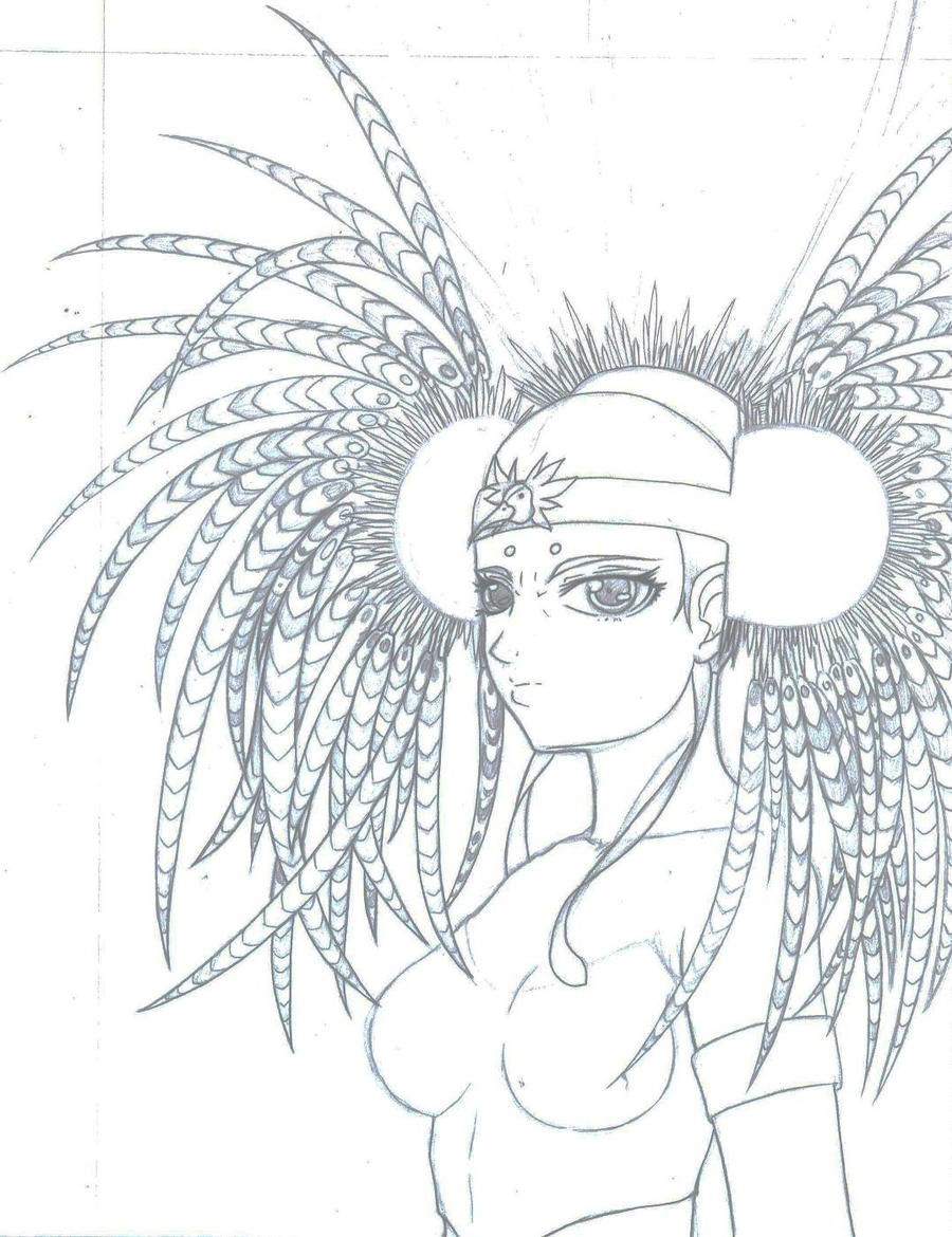 Aztec Warrior Anime by Yjayr